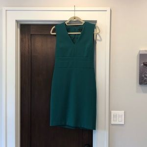 Ann Taylor Dress, pine green, size 0-2 see notes!